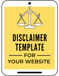 website disclaimer examples